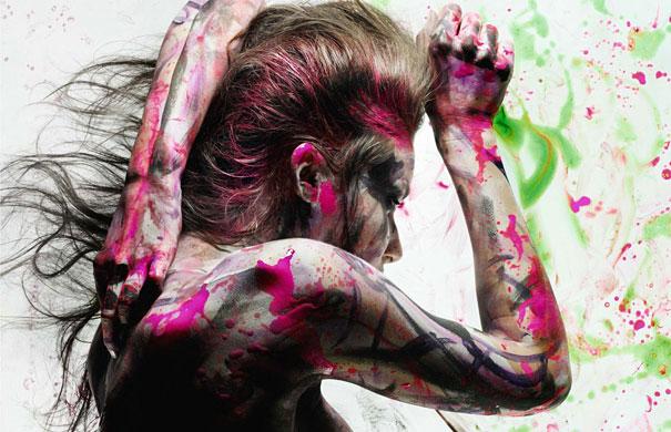 Paint Splashed Models Iain Crawford
