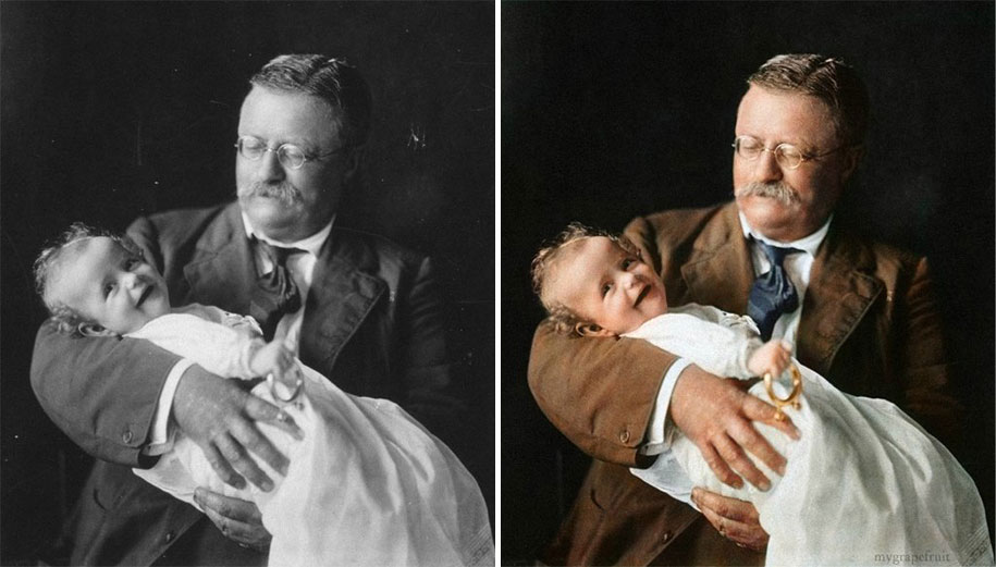 Famous old photographs restored in color 5